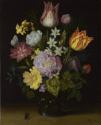 Flowers in a Glass Vase by Ambrosius Bosschaert the Elder