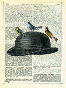 Bowler Hat with Birds by Marion McConaghie