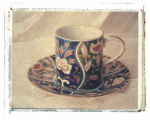 Blue Teacup by Deborah Schenck