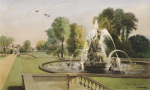 St. George and the Dragon Fountain, Holkham by Edward Adveno Brooke