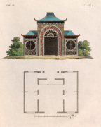 Oriental Garden Room and Plan by Johann Gottfried Grohmann