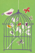 Bird on Cage by Fiona Howard