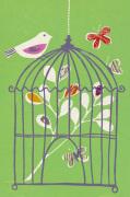 Bird on Cage
