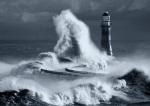 Roker Lighthouse Blue I by John Kirkwood