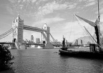 Tower Bridge and Thames barge
