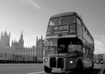 Routemaster bus farewell Westminster Bridge