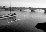 Scullers up to Putney Bridge