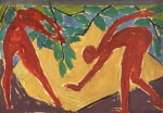Design for a folding screen - Adam and Eve