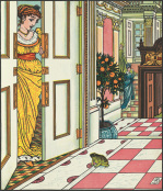 The Frog at the Princess's door