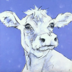 Cow on Lilac