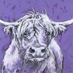 Bull on Purple