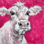 Cow on Pink