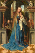 Madonna standing with the Child and angels