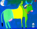 Cow and Parakeet