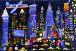 New York Night Sky by Christopher Corr