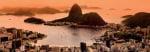 Sugar Loaf and Botafogo Beach at Sunset Rio de Janeiro