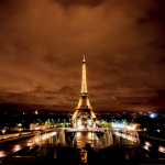 Eiffel Tower at Night by Justin Black