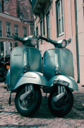 Twin Vespas by Scott Dunwoodie