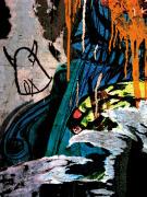 Blue Orange Layers 2 by Jenny Kraft
