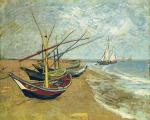 Boats Saintes-maries by Vincent Van Gogh