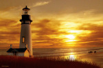 Lighthouse at Sunset by Carlos Casamayor