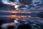 Icelandic Sunset by Maciej Duczynski