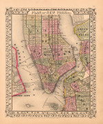 Plan of New York City 1867