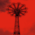 Red Parachute Jump by Erin Clark