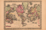 Map of the World 1867