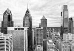 Philly Skyline (b/w) by Erin Clark