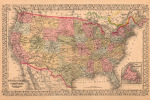 Map of the United States 1867