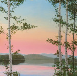 Cooper Sunset Birches by Elissa Gore