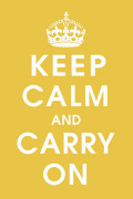 Keep Calm (mustard) by Vintage Repro