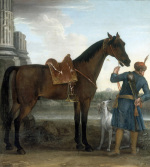 The Great Stallion the Byerley Turk held by a Groom 1731