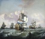 A Squadron of Dutch Indiamen in Choppy Seas