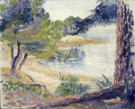 La Plage Ombragee, 1902 by Henri-Edmond Cross