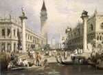 The Entrance to St Mark's Square, Venice by Samuel Prout
