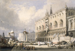 The Doge's Palace, Venice by Samuel Prout