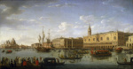 Venice: the Bacino di San Marco and the Doge's Palace by Hendrik Frans Van Lint