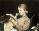 Blond and Brunette by Charles Burton Barber