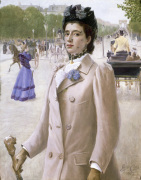 Portrait of a Lady in the Champs Elysees 1893