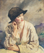A Woman Thinking - a Portrait of Miss Sinclair