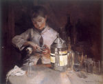 The Glass Cleaner at Night c.1890