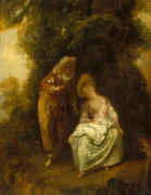 A Pair of Lovers Resting Beneath a Tree
