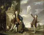 George Fitzgerald with his sons George and Charles by Johann Zoffany