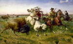 The Great Royal Buffalo Hunt by Louis Maurer