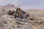 Attack on a Wagon Train 1902