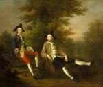 Portrait of David Garrick and William Windham c.1745