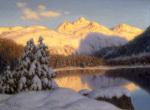 Soir de Novembre pres de St Moritz Engadine