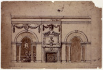 Preliminary Design for the Marble Parlour Houghton 1728
